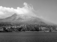 Volcano Island in Indonesia