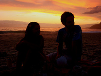 friends in copacabana beach RJ