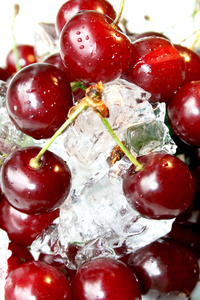 Fresh juicy cherry