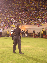 Security at soccer GAME