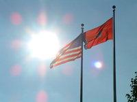 American Flag Lightshow