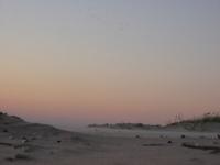 Sunset on the sea coast