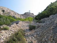 Uphill the karst