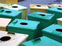meeting of recycle bins