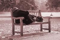 Zwerver in park Londen