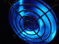 Blue fan glow in dark
