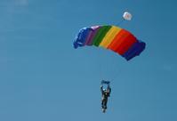 Man in a parachute