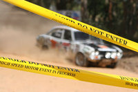 Rally Car with Warning Tape