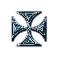 Isosceles cross pictogram 2