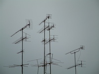 antennas on rooftop