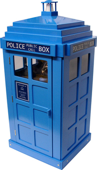Blue policebox phone