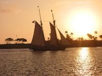 sunset through a sail