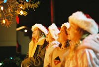Girls at Christmas Tree