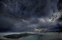 Last nights storm clouds leaving