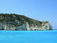 Blue sea at Zakynthos