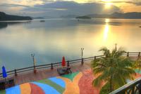 Sunrise at a resort