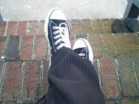 Sitting on Some Steps