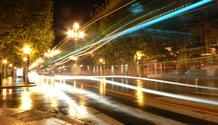 Avenue at night