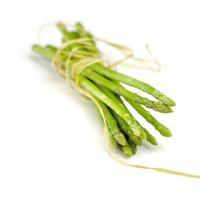 Asparagus isolated on white photos