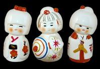 Three japanese dolls