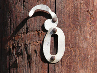 Number on wood