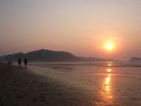 Sunset in Zarautz Beach 3