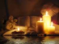 Bible, Candles and Quill