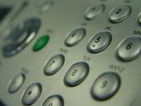 Fax machine keypad