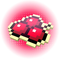 DRAW IN PIXEL A CHERRY IN 3D, THE NEW AGE OF THE PIXEL VINTAGE