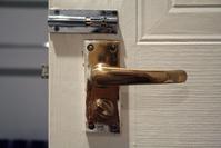 Door handle and a lock