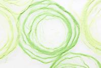 Green circles made of Hanji