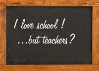 Blackboard in the classroom 4