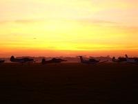 Planes at dusk