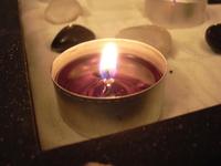 little zen garden with candle