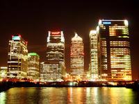 London Docklands at night