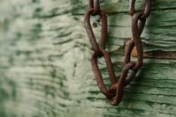 Chain against green