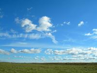 Blue sky in october