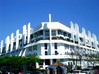 Corner of modern building