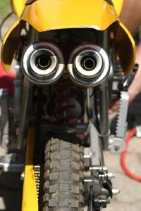 Enduro bike exhaust pipes 2