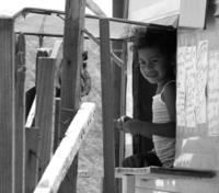 Girl in Caravan