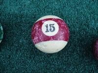 Old Pool Table Balls 15