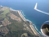 airplane topographic Australian coastline 2