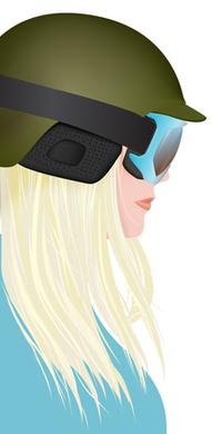 Snowboard girl illustration