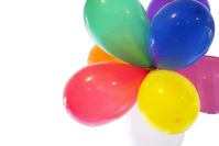 balloons in colors