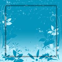 blue flowers splatter and swirls photo files set 1