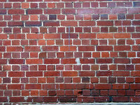 buildings -brick wall half bri