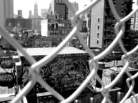 Graffiti Through Fence