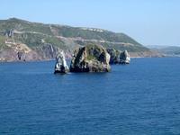 Olistoliths along Nebida cliffs