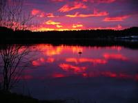 Spring sunset