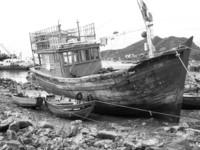 junk on shore
